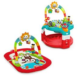 Bright Starts 2-in-1 Silly Sunburst Activity Gym and Saucer,