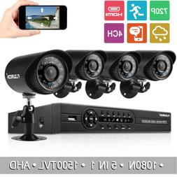 """12"""" LCD 4CH Wireless 1080P NVR Outdoor Home WIFI IP Camera"""