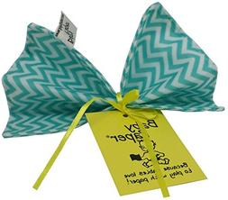 Baby Paper - Crinkly Baby Toy - Turquoise Zig Zag