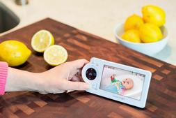 """Project Nursery - Video Baby Monitor with 4.3"""" Screen - Whit"""