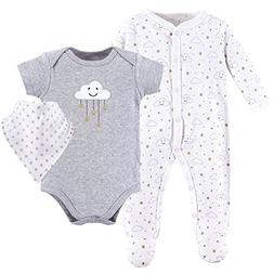 Hudson Baby Baby Multi Piece Clothing Set, Gray Clouds 3, 6-