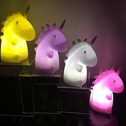 Colorful Cute LED Cartoon Night Light Kids' Bedroom Unicorn