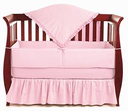 American Baby Company Heavenly Soft Minky Dot 4-Piece Crib B