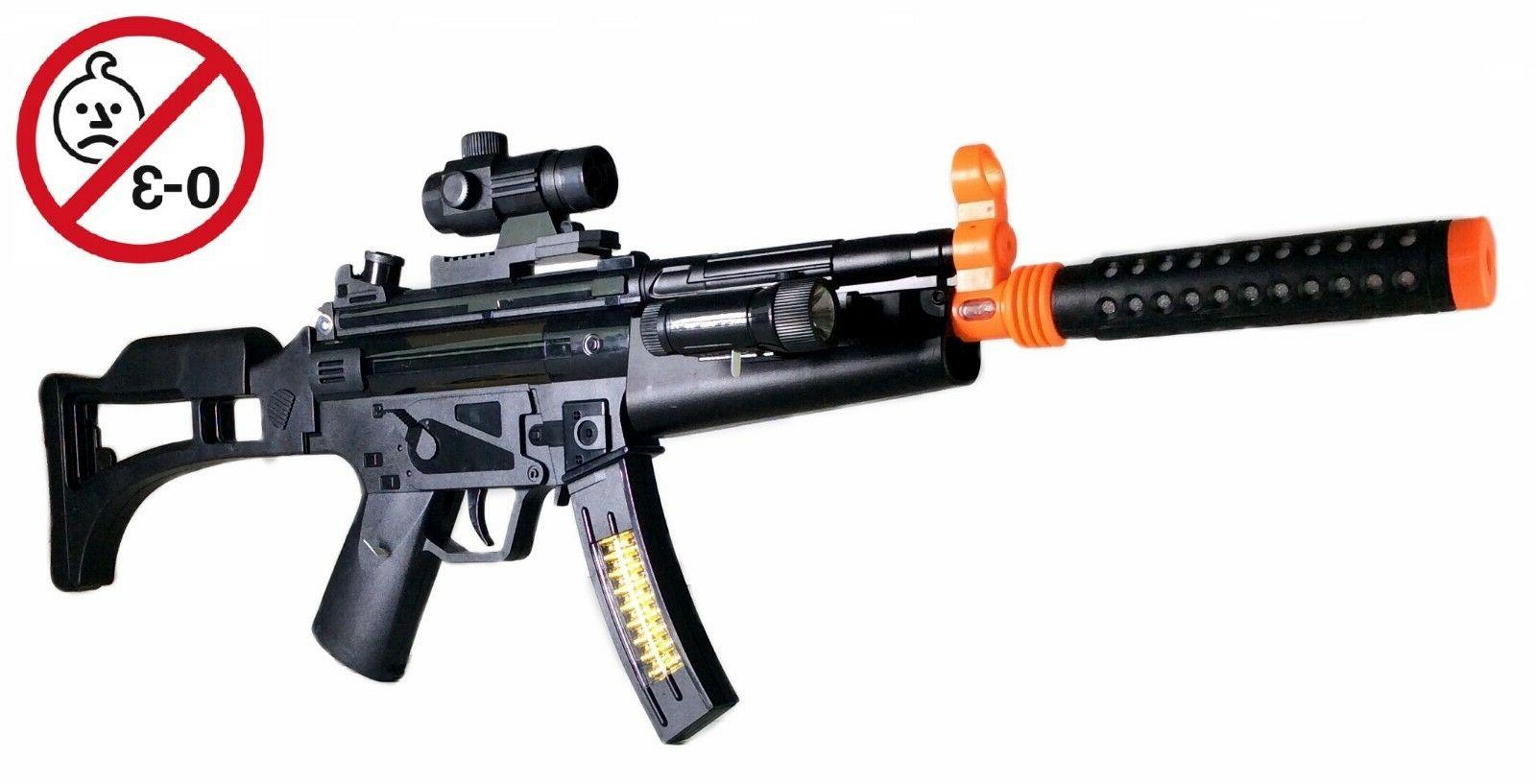 "29"" Combat RIFLE TOY GUN LIGHT AND SOUND SCOPE NEW IN BOX"