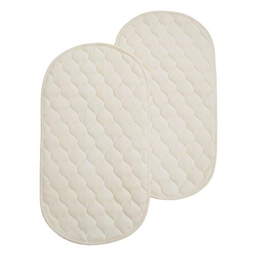 American Baby Company Natural Waterproof Quilted Playard 2 P