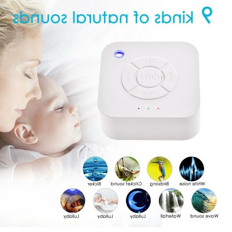 Baby White Noise Machine Soothing Sound Volume Control for T