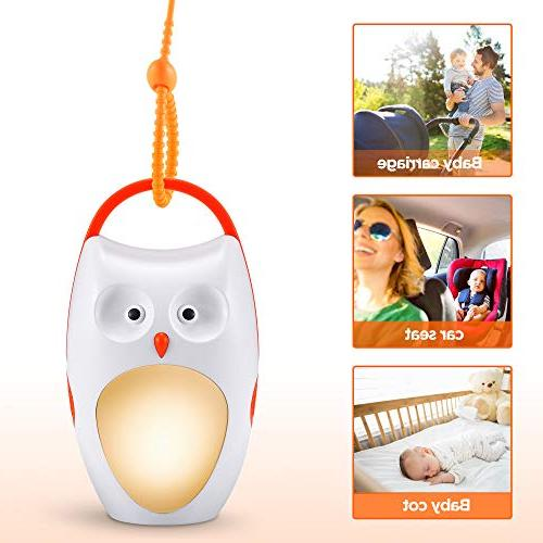SOAIY Baby Sleep Noise Shusher Sound with Sleep Aid Night Light,7 Volume for Traveling,Sleeping,Baby Carrige