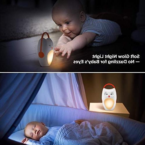 SOAIY Sleep Soother Noise Shusher Sound with Aid Night Light,7 Soothing Volume for Carrige