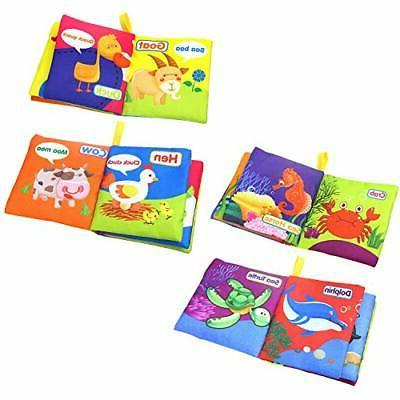 Baby Soft Cloth Book Crinkly Early T