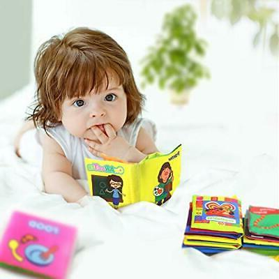 Baby First Soft Cloth Set, Infants Crinkly Books T