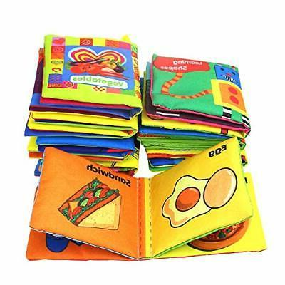 Baby First Nontoxic Cloth Book Crinkly Learning T