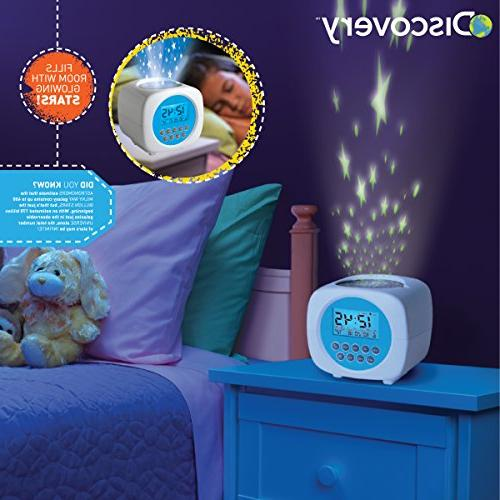 Discovery Digital Star LCD Alarm Clock for Sleep, On Ceiling/Walls, Requires 3