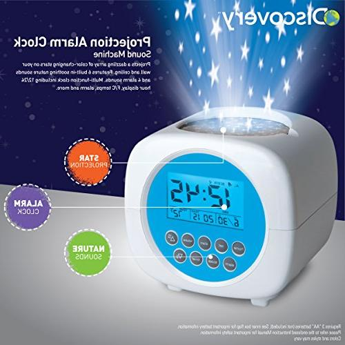 Discovery Kids Digital Alarm Sound for Sleep, On Ceiling/Walls, Requires 3