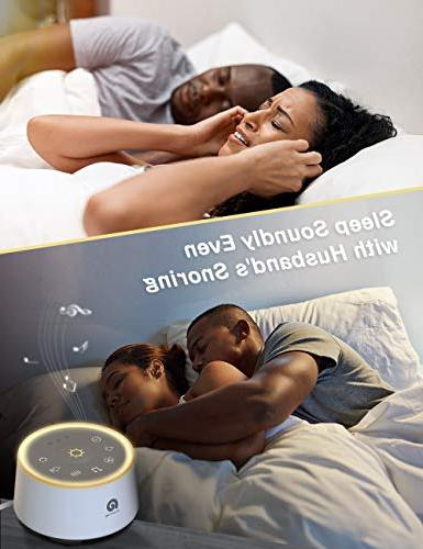 Dreamegg D1 White Sound Machine Baby Soothing Night Fidelity Fan Sound, Nature Sounds.Office Timer Sleep Therapy