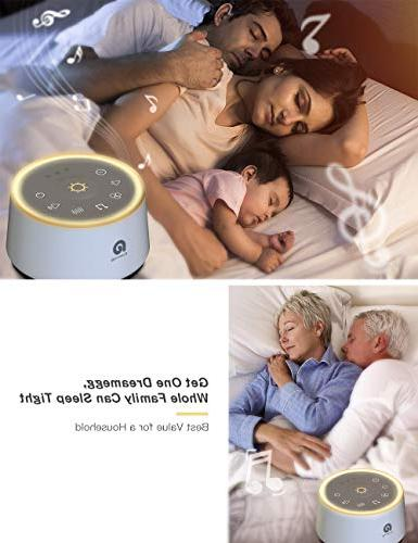 Sound Machine with Soothing Night Fidelity Sound, Relaxing Nature Sounds.Office Privacy Timer & Sleep