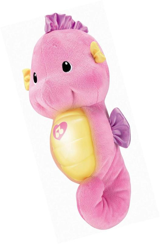 Fisher-Price Soothe Glow Seahorse, Pink, Funny Toy