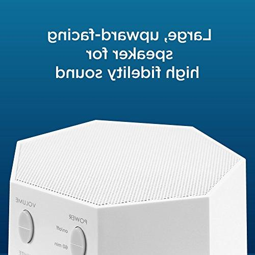 Adaptive High Fidelity Sound Machine Unique Fan White Noise Sounds Sleep Timer