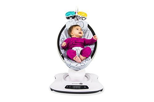 4moms mamaRoo high-tech Swing Soft, Plush with 5 Unique