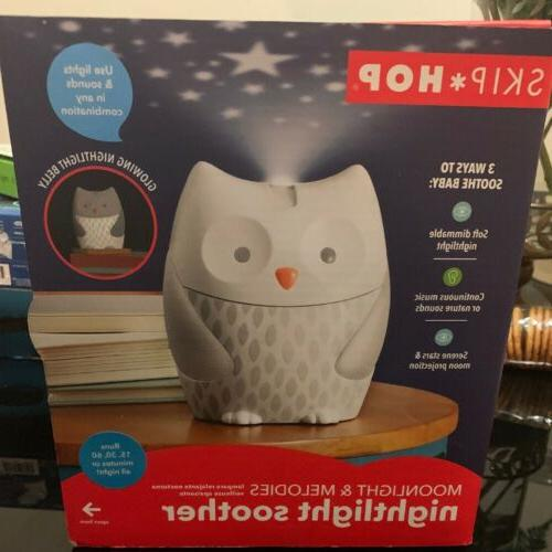moonlight and melodies nightlight soother owl multi
