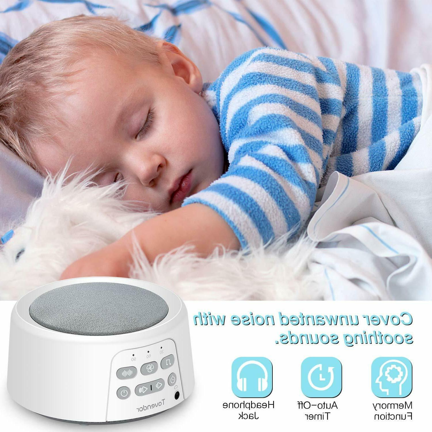 Nature Sounds White Noise Machine for Home Sleep