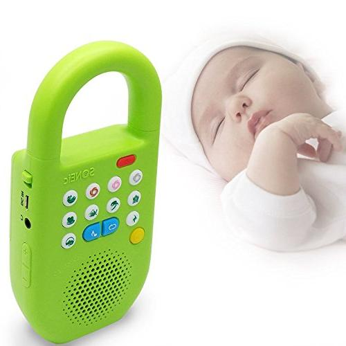 SONEic Travel Relax and Focus Machine. Noise and Natural Sound Tracks Baby Lullaby Timer Option -