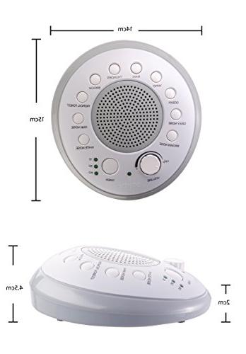 SONEic Sleep, and Focus 10 and Natural Sound with Option. Crystal Clear Quality & Headphone Jack. or Battery Powered - White