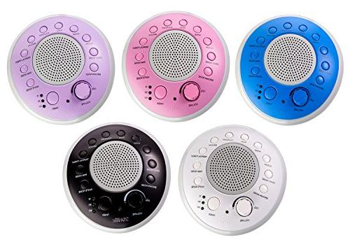 SONEic - and Focus Machine. 10 and Sound Tracks, with Timer Clear Quality & Headphone or Battery White