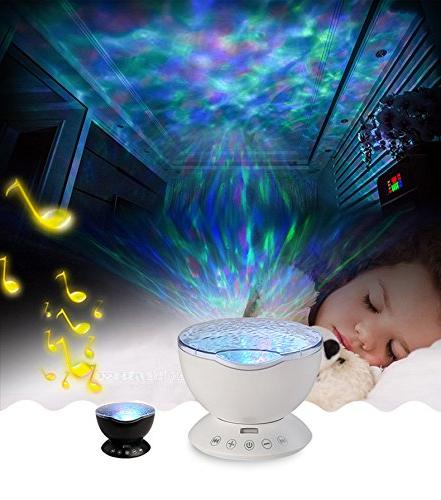 Ocean Projector, Night Light Sound Machine Music and
