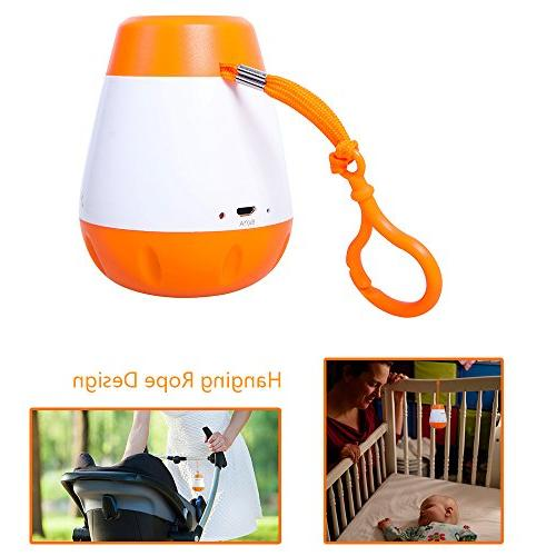 EAREST Portable Sleep Soother Sound - Gentle 6 Sounds Include Lullaby, Fetal Heartbeat, Noise, Shush, Rain - Function and USB Charger