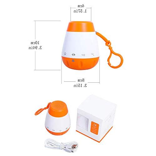 EAREST Baby Sleep Soother Gentle 6 Lullaby, Fetal Heartbeat, Noise, Shush, Ocean, Rain Function and Charger