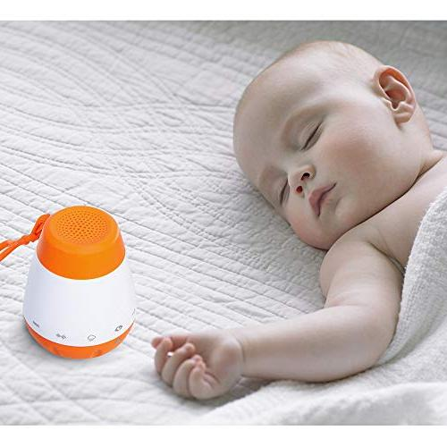 EAREST Portable Baby Sleep Soother Gentle 6 Sounds Include Lullaby, Noise, Shush, Rain - Auto-Off Function and USB Output Charger