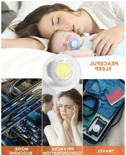 Kapebow Portable Noise Machine and Baby, Sleep Therapy