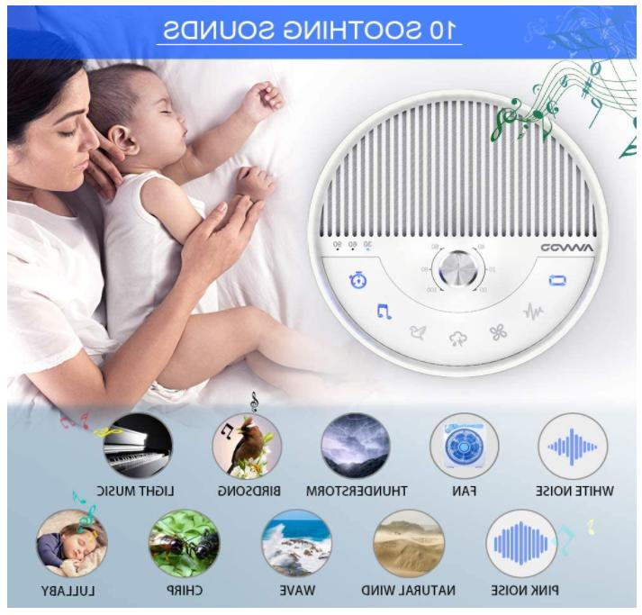Portable Sleep Therapy Noise Sound 10 Soothing Nature Sounds