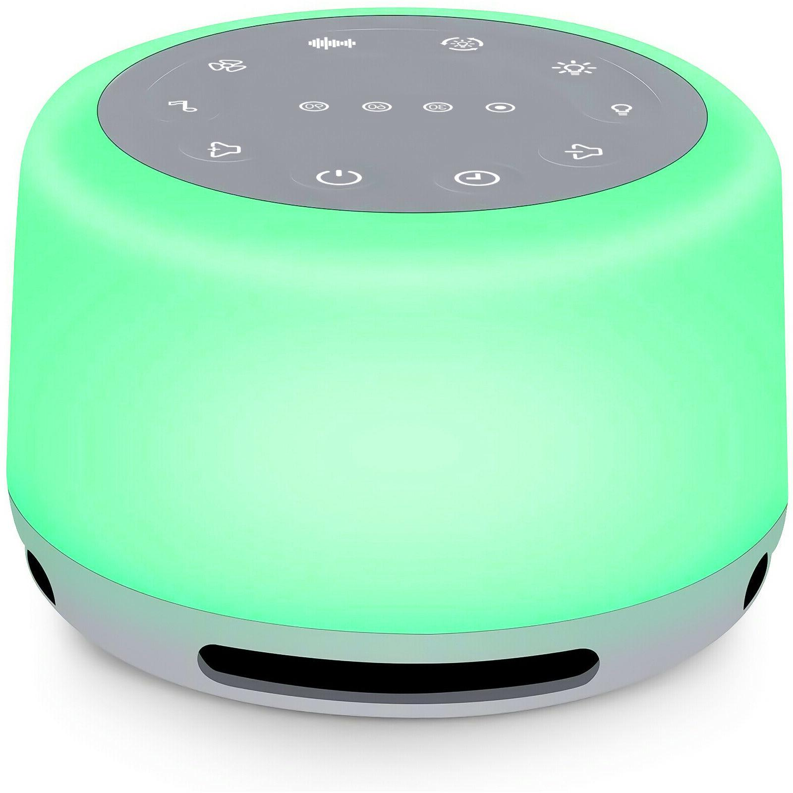 sleep sound machine 24 sounds rechargeable white