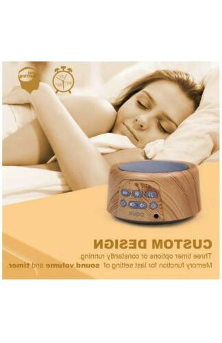 Douni Sleep Sound Machine - White with Soothing Sounds for