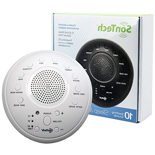 SonTech Sound Machine - 10 Natural Home, – Settings - Battery Charging Options