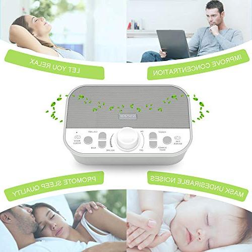 Housbay Machine White Machine for Sounds Jack Quality Speaker 4 Sleep Timer Baby Adults Gray