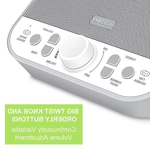 Housbay - White Sounds Quality Speaker Baby Kids Adults Seniors Gray