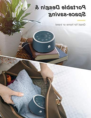 Sound for - Machine with Non-Looping HIFI Sounds, Timer, Soothing Portable Sound Baby/Kids/Adult/Office, USB Powered