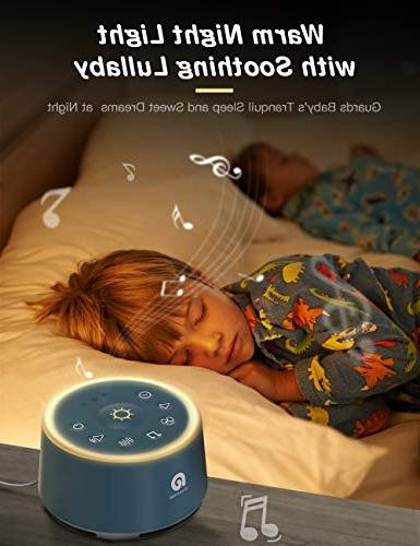Sound Machines - Machine 21 HIFI Sounds, Auto-off Timer, Soothing Night Portable Machine Baby/Kids/Adult/Office, USB Powered
