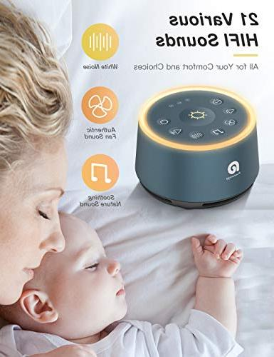 Sound for - Machine Non-Looping HIFI Sounds, 3 Auto-off Timer, Night Portable Sound Machine Baby/Kids/Adult/Office, USB Powered