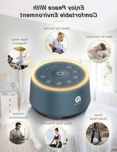 Sound for - Dreamegg HIFI Sounds, 3 Auto-off Timer, Portable Sound for Baby/Kids/Adult/Office, USB Powered