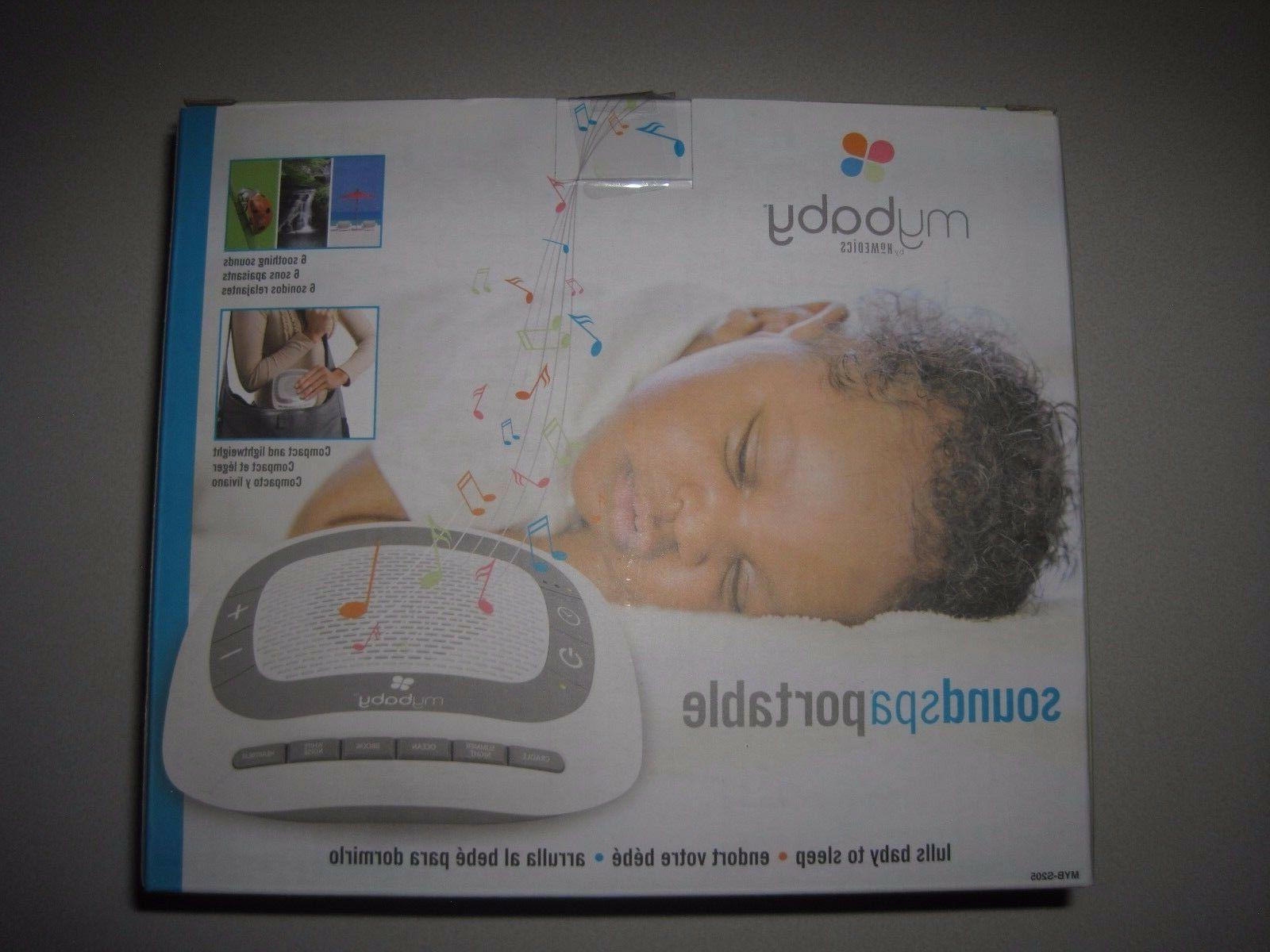 soundspa lullaby sound machine and projector portable