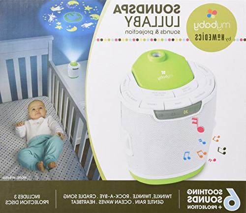MyBaby, SoundSpa Lullaby Choose 6 Soothing Sounds & | Projector & 3 | Disk Storage & Auto-Off