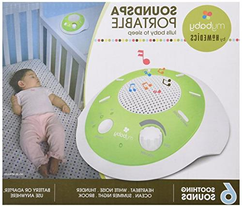 myBaby Plays 6 Natural Auto-Off Portable for New or Battery or Adapter MYB-S200