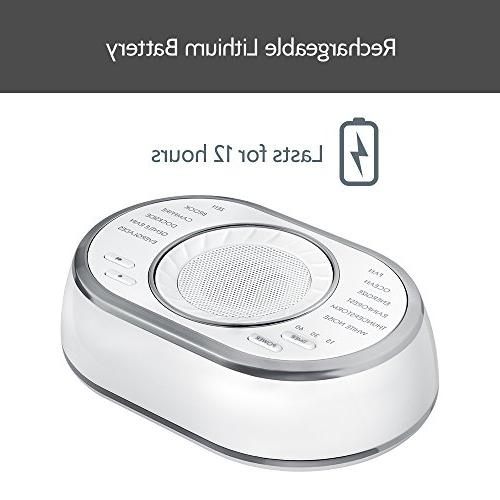 Ultra-Portable Sound | 12 Relaxing Sleep Sounds, Auto-Off | Therapy for Home, & | SoundSpa HoMedics