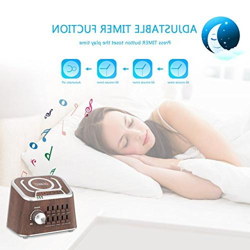 White Noise Mixed Sound Spa Machine for Yoga, Working, Speech Baby Speaker with Soothing