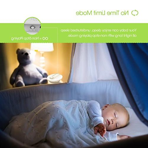PICTEK White 24 Non-Looping Soothing Sleep Therapy Lullaby Sound for Sleeping Jack, USB or Powered
