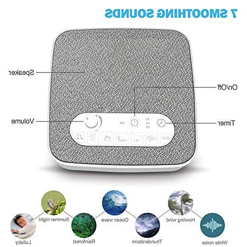 White Noise Machine Sleeping, Aurola Machine Soothing Sounds Traveler, Office Travel. USB Charger & Timer