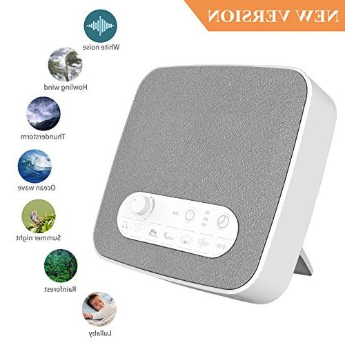 White Noise Sleeping, Aurola Machine Non-Looping Soothing Sounds for Traveler, Office Travel. Built Timer